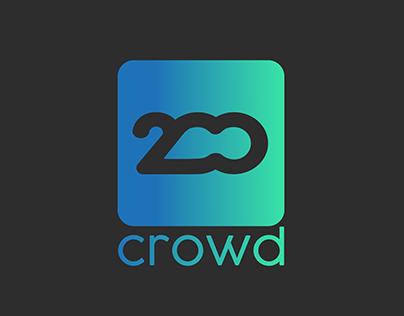 Logo Design & Branding 200 Crowd.