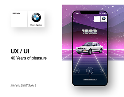 BMW Serie 3 | UI/UX - 40 Years of pleasure