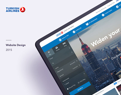 Turkish Airlines Website Design