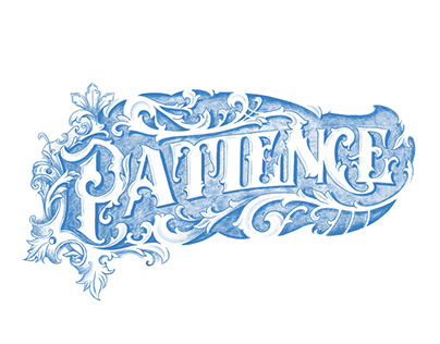 Patience - handwriting and ornaments