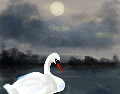 Summer Evening - painted in Adobe Fresco