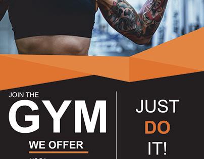 GYM advertising flyer