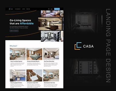 Casa Coliving Landing Page Design