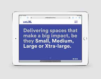 SMLXL – Website, UX/UI
