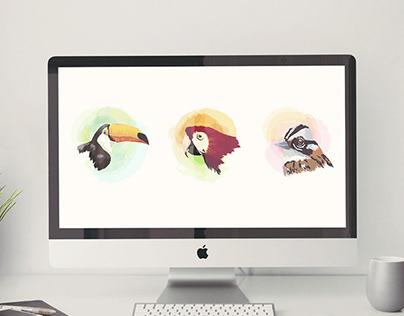 Birds . Ilustración