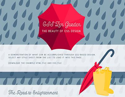 Rainy Day Website Design for CSS Zen Garden