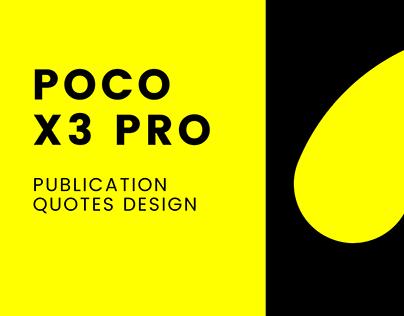 Poco X3 Pro Publication designs