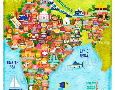 Map of India Illustration