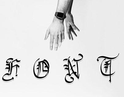 Italian Goth Font Design