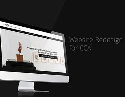 Landing Page redesign for columbia center for the arts