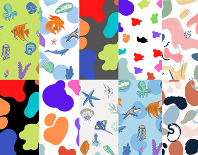 Seamless Abstract pattern design