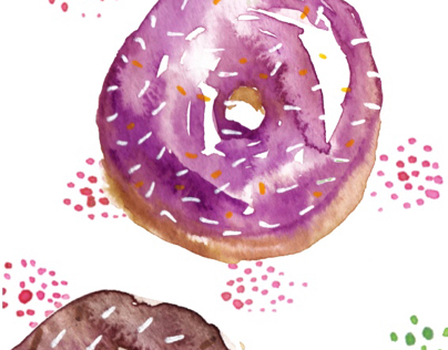 The 100 Day Project - 100 days of food illustration