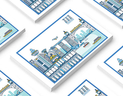 [ NAMECARD] : Singapore Illustration