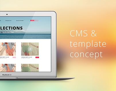 CMS & template concept