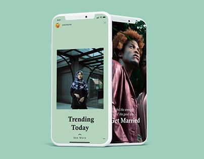 Phone Screen /UI/Instagram Mockup