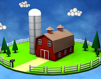 Low Poly Barn World