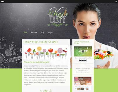 Web Design - Template Jimdo The Veggie Tasty
