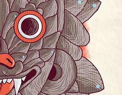 Ilustración: Xhono gueu' (Ocho coyote)