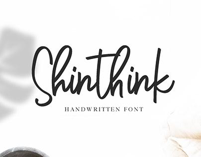 Shinthink Handwritten Font made by #fontself
