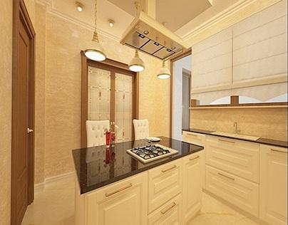 Bucatarii amenajate in stil clasic - Design interior 3d