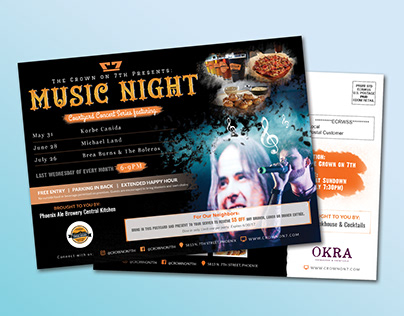 Club Event Night Party EDDM POSTCARD Template Design
