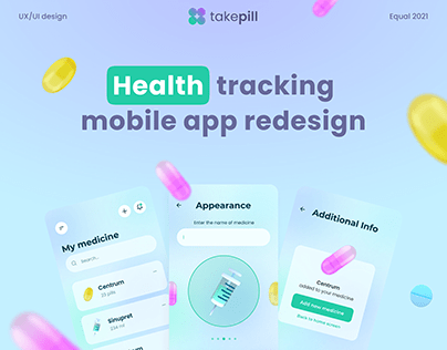 Health tracking mobile app redesign