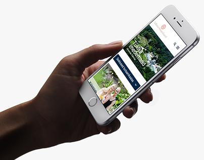 Tallinn Botanic Garden web design concept