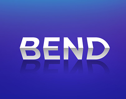 Bend text effect