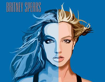 Fan Art: portada del álbum In The Zone - Britney Spears