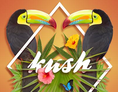 Marijuana Botanical Typography