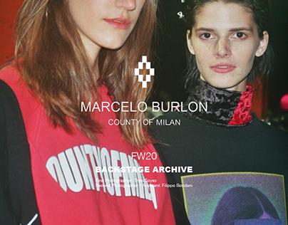 MARCELO BURLON FW20 // Backstage Reportage