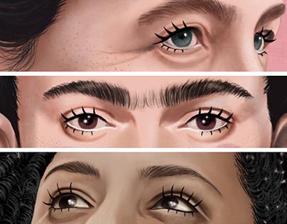 Ilustração • Simone • Frida • Marielle