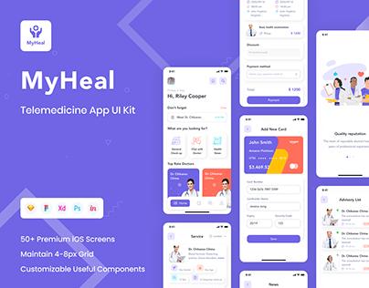 MyHeal - Telemedicine App UI Kit