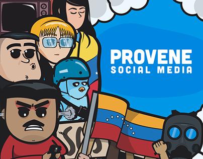 Provene. Social media.