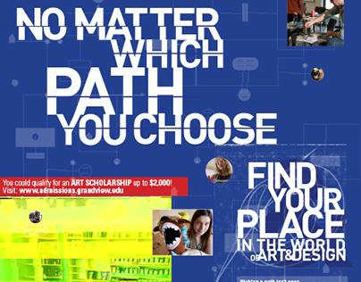Grand View University Art & Design Marketing Poster