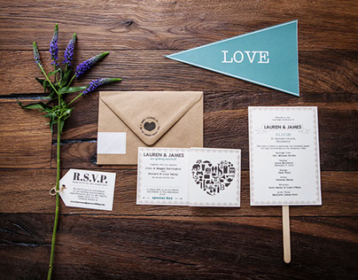 L+J Wedding Stationary Design