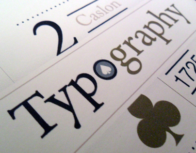 Playing Cards - Typography