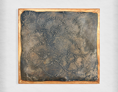 Bronze relief - Good luck spiders - limited edition