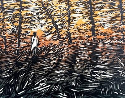 The Watchers (Woodblock Prints)
