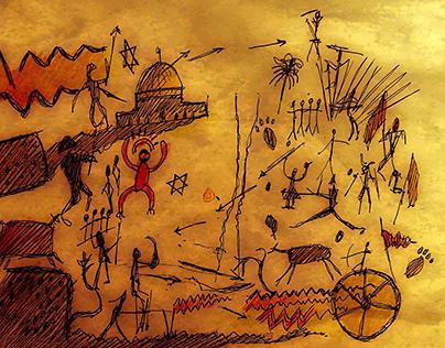 armageddon cave drawing
