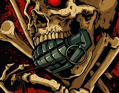 Metallica Skull Grenade