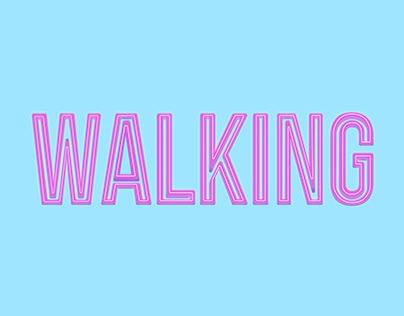Typography   Steve Grand Single Cover - Walking