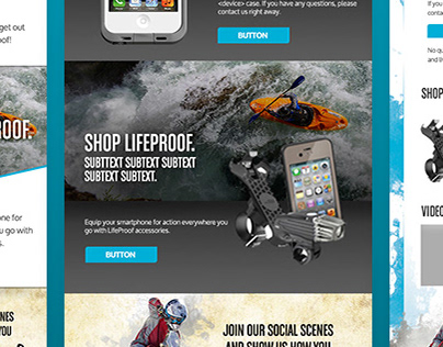 Email Template Design - Lifeproof+Otterbox