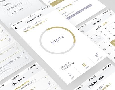 Singer's Watch - App Design