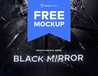 Black Mirror Free Text Effect Mockup