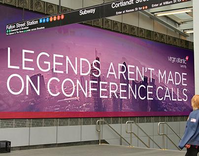 Virgin Atlantic :: Fulton Center Digital Takeover