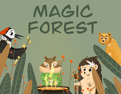 "Illustrated Children Book ""Magic Forest"""