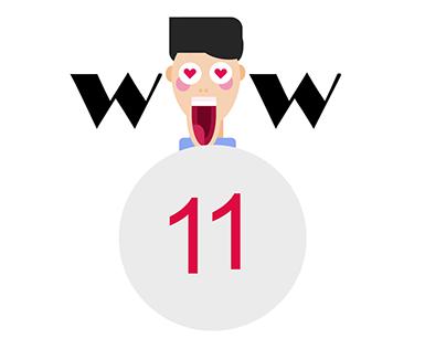 WOW 11 Flat Design facial Expressions