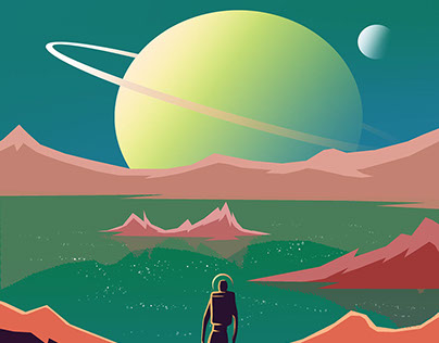 Space Travel Poster Series