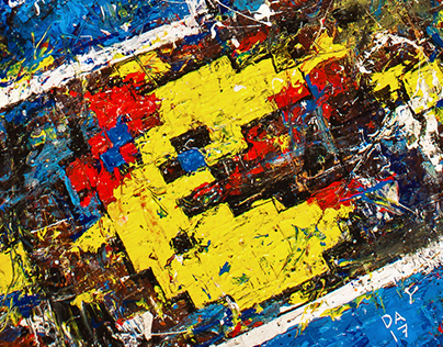 Retro Gaming - Acrylic on canvas (2017) - Sold